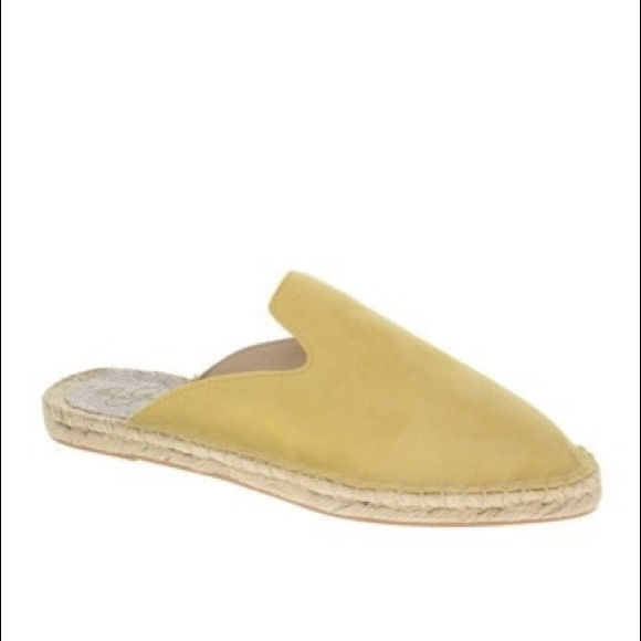 42 Gold Shoes - 42 Gold Bermuda Espadrille Mule in Yellow